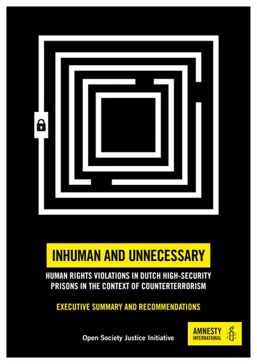 First page of PDF with filename: inhuman-unnecessary-dutch-detention-exec-summary-english-20171027.pdf