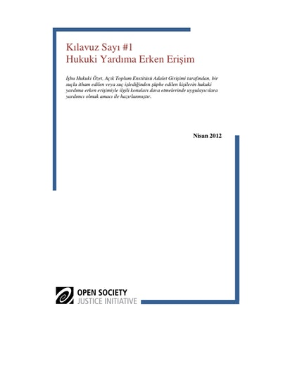 First page of PDF with filename: kılavuz-sayı-hukuki-yardıma-erken-erişim-20120601.pdf
