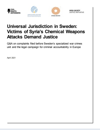 First page of PDF with filename: faq_chemical-weapons-criminal-complaints-in-sweden_04192021.pdf