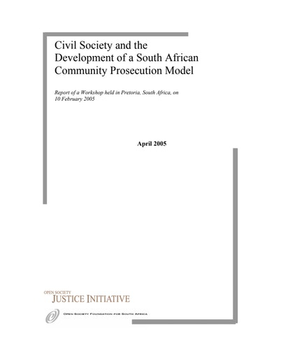 First page of PDF with filename: southafrica_20050210.pdf