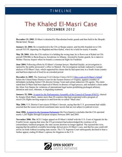 First page of PDF with filename: timeline-khaledelmasri-20140411.pdf