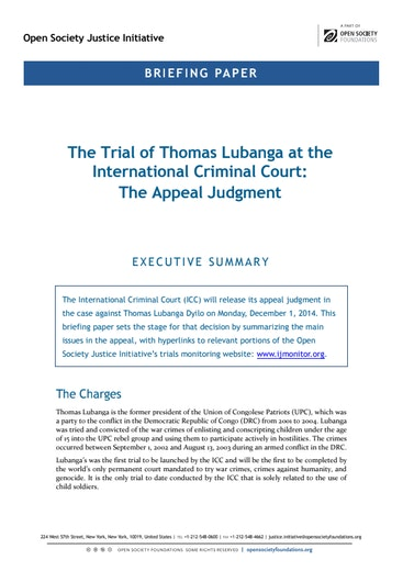 First page of PDF with filename: lubanga-appeal-briefing-11212014.pdf