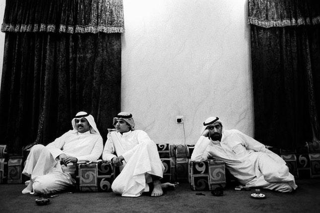 Three bidoon men lounging