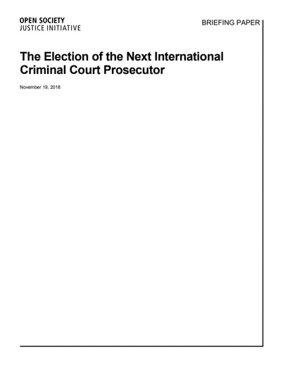 First page of PDF with filename: briefing-paper-ICC-elections-20181119.pdf