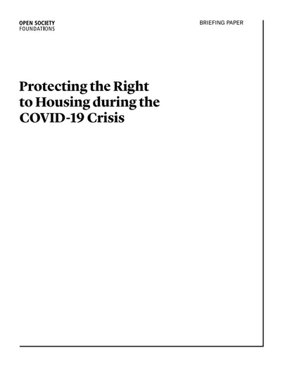 First page of PDF with filename: ji-covid_housing_report-2020_12_07.pdf