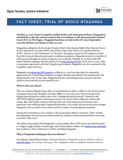 First page of PDF with filename: factsheet-ntaganda-testimony-20170609_0.pdf