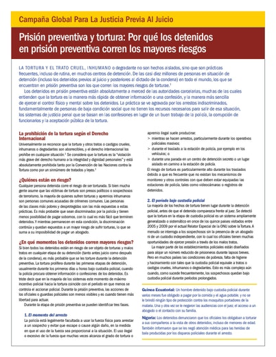 First page of PDF with filename: pretrial-justice-torture-spanish.pdf