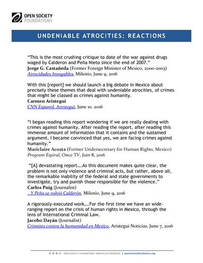 First page of PDF with filename: undeniable-atrocities-reactions-20160610_1.pdf
