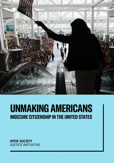First page of PDF with filename: unmaking-americans-insecure-citizenship-in-the-united-states-report-20190916.pdf