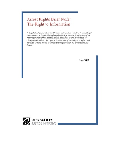 First page of PDF with filename: arrest-rights-brief-right-to-Information-20121021.pdf