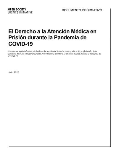 First page of PDF with filename: el-derecho-a-la-atención-médica-en-prisión-durante-la-pandemia-de-covid-sp.pdf
