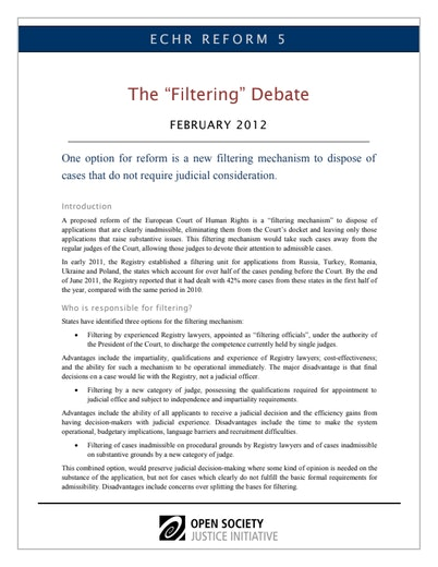 First page of PDF with filename: echr5-filtering-20120227.pdf