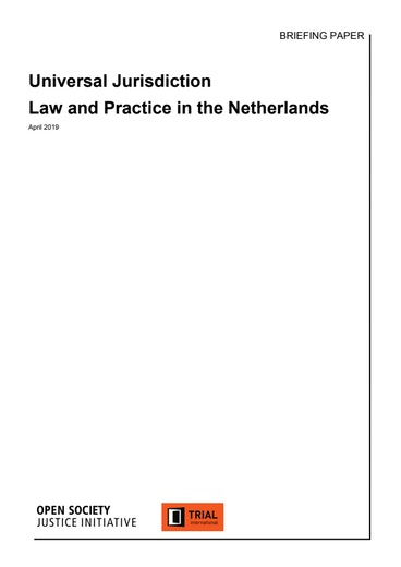 First page of PDF with filename: universal-jurisdiction-law-and-practice-netherlands.pdf