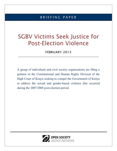 First page of PDF with filename: sgbv-kenya-20130219.pdf