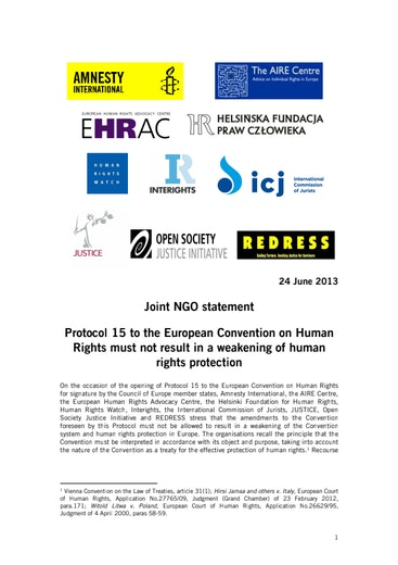First page of PDF with filename: echr-protocol15-joint-statement-06272013.pdf