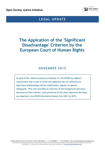 First page of PDF with filename: briefing-echr-significant-disadvantage-20151120.pdf