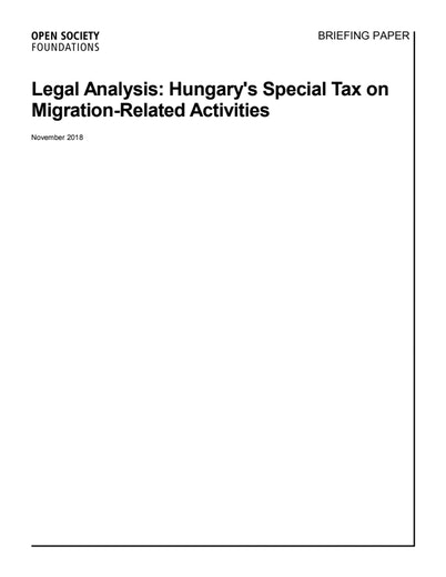 First page of PDF with filename: briefing-paper-hungary-special-tax-analysis-20181114.pdf