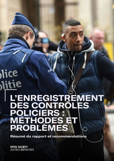 First page of PDF with filename: enregistrement-des-controles-policiers-032020.pdf